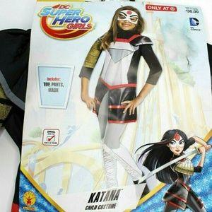 DC Super Hero Girls Katana Costume Size Small 4-6